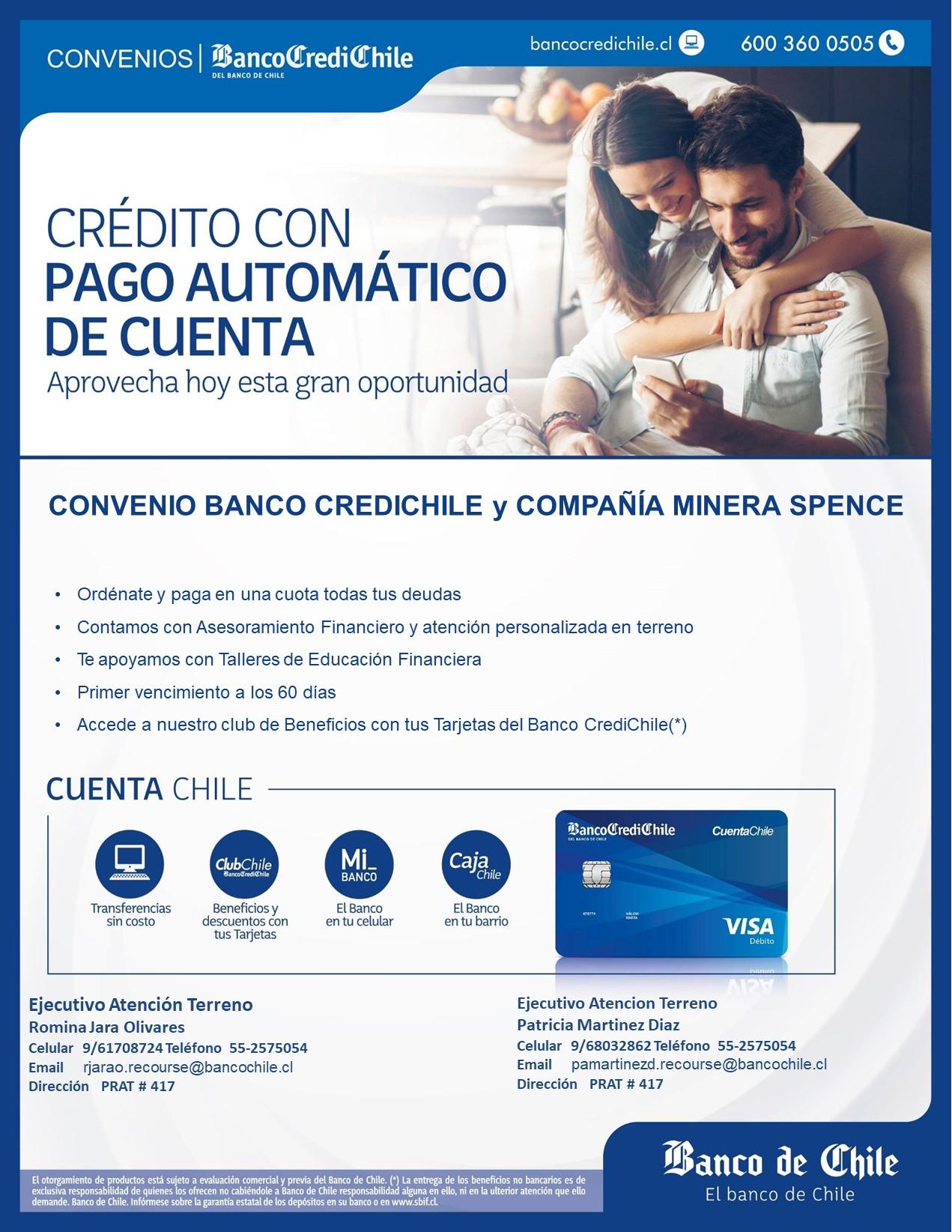 Convenio Banco Credichile