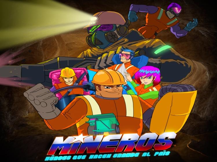 """Conoce el trailer de """"Mineros"""", la nueva serie animada de superhéroes chilenos"""