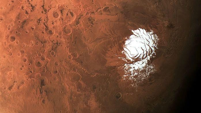 Histórico descubrimiento: Encuentran agua líquida y salada bajo el hielo en Marte