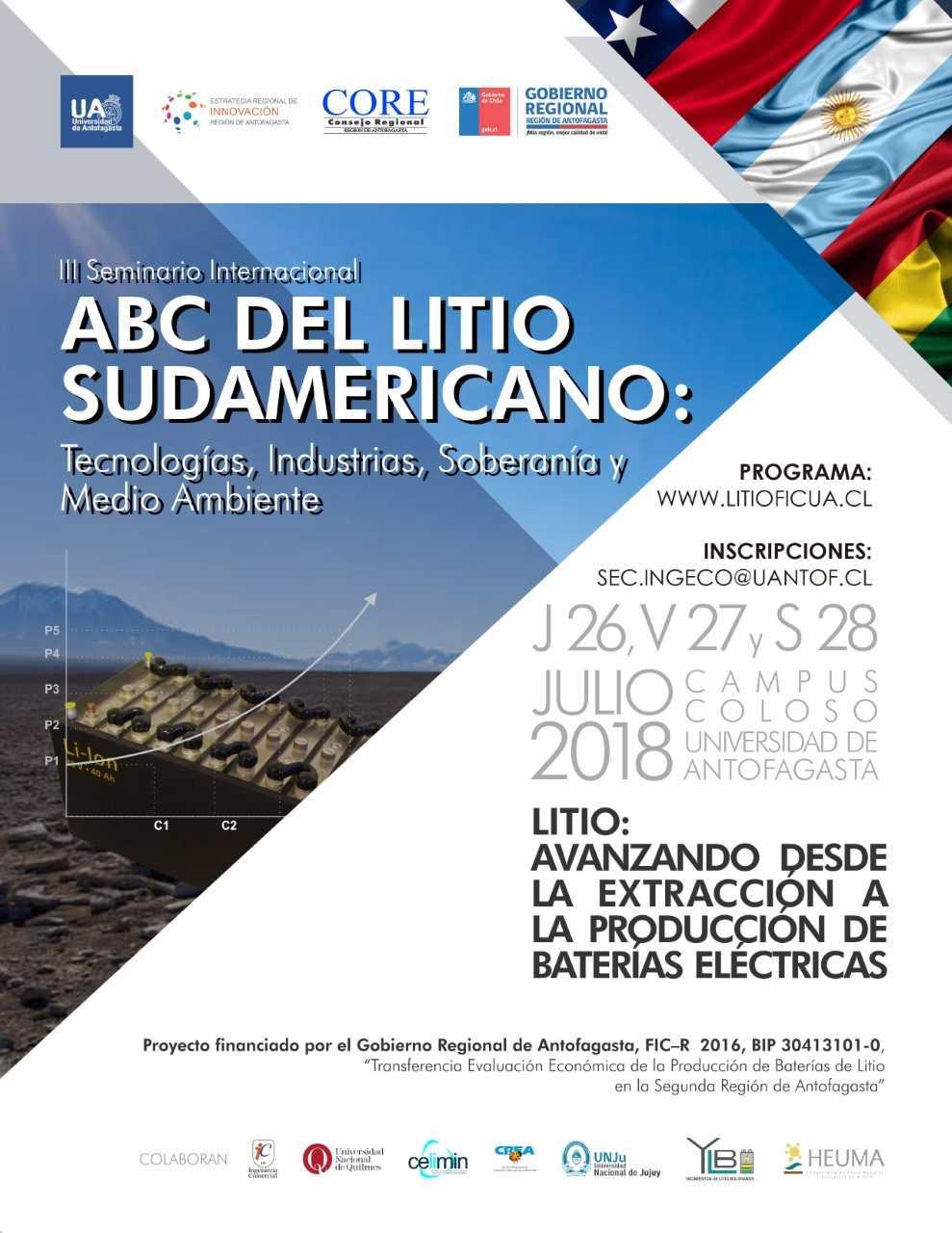 UA convoca a seminario internacional del litio