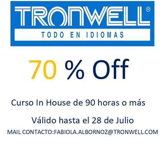 PROMOCIÓN ESPECIAL TRONWELL