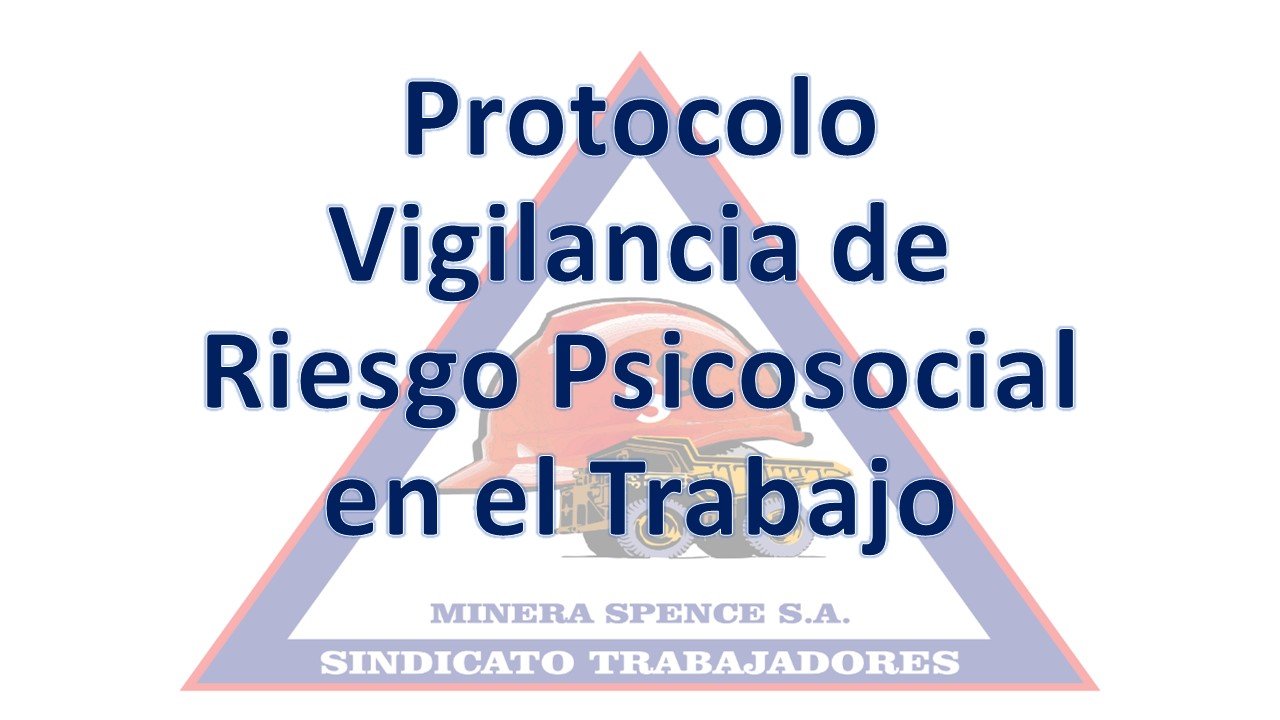 PROTOCOLO DE VIGILANCIA DE RIESGO PSICOSOCIAL EN EL TRABAJO