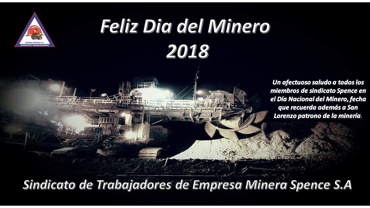 Feliz Día del Minero 2018