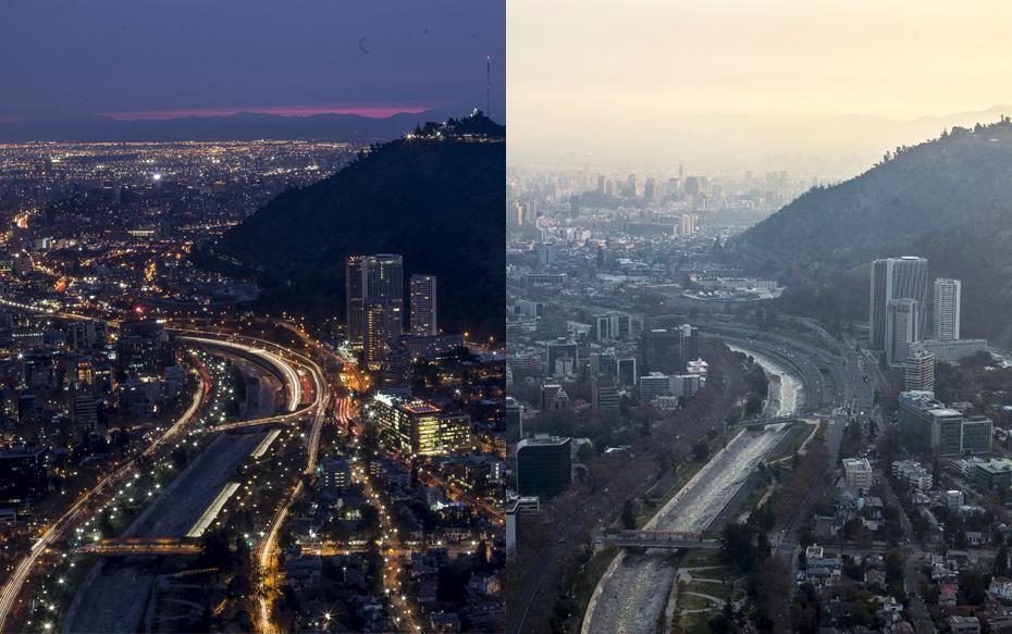 Fotos: El antes y después tras el cambio de hora