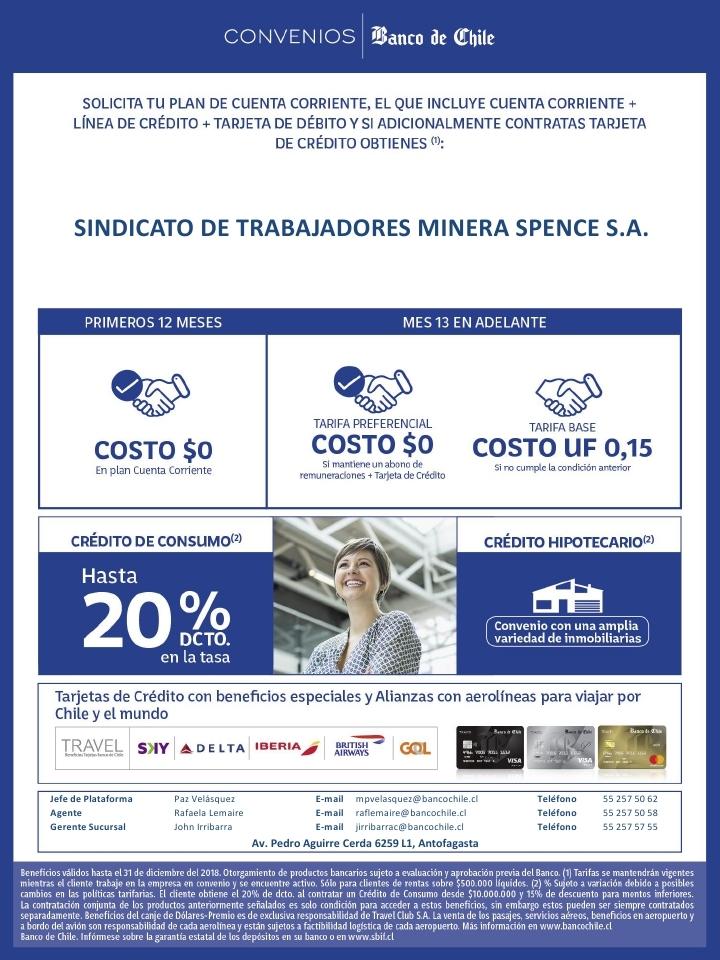 Convenio Banco de Chile