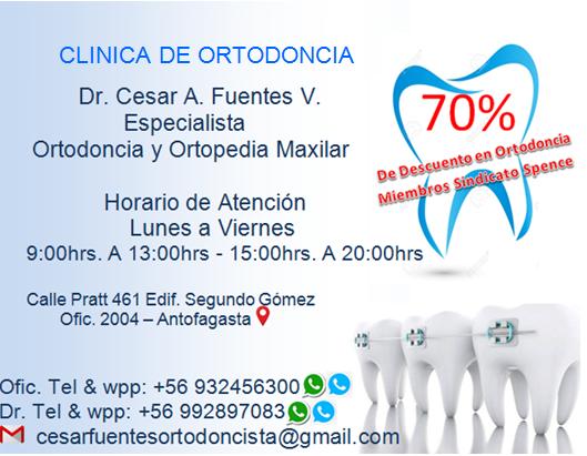 Nuevo Convenio Clinica De Ortodoncia Dr. Cesar Fuentes Vesga