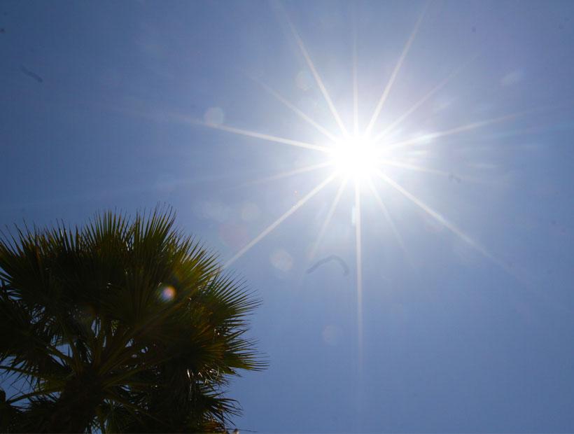 Ola de calor afectará la zona central del país hasta el viernes con máximas de 36°C