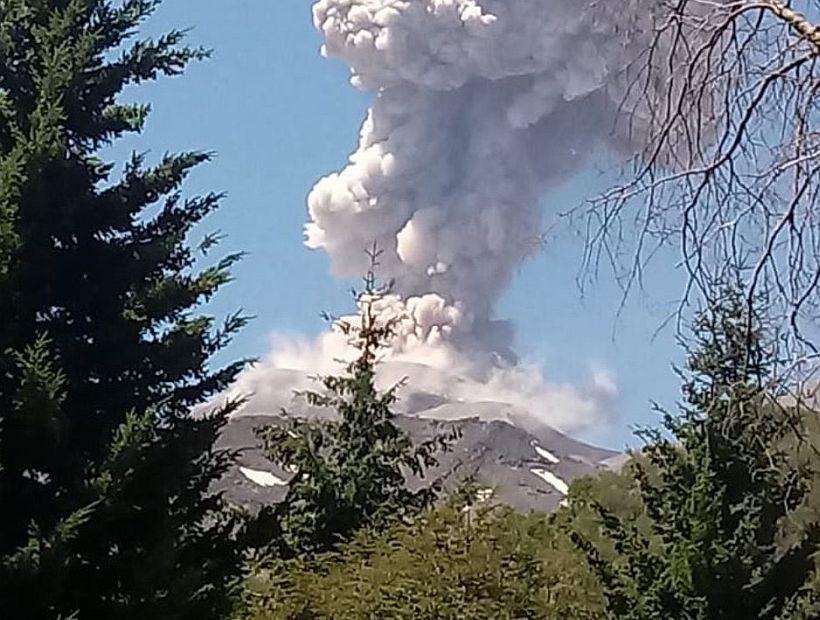 Nuevo pulso eruptivo se registró en menos de 24 horas en el complejo volcánico Nevados de Chillán