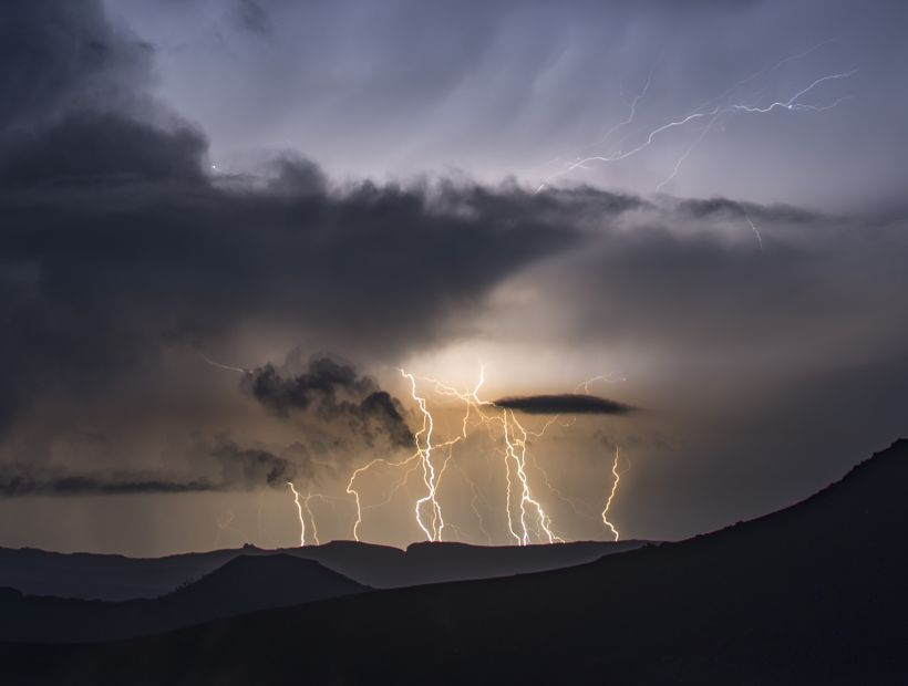 Anuncian tormentas eléctricas para las zonas cordilleranas del norte del país