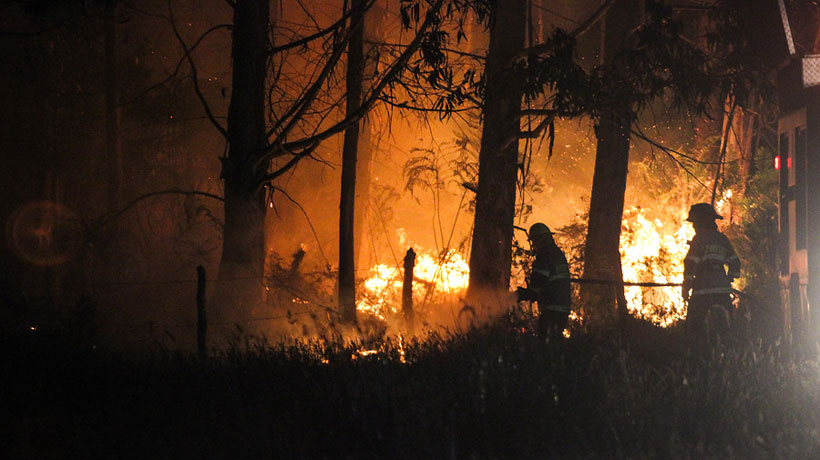 ONEMI contabiliza 16 incendios activos en la zona centro sur del país