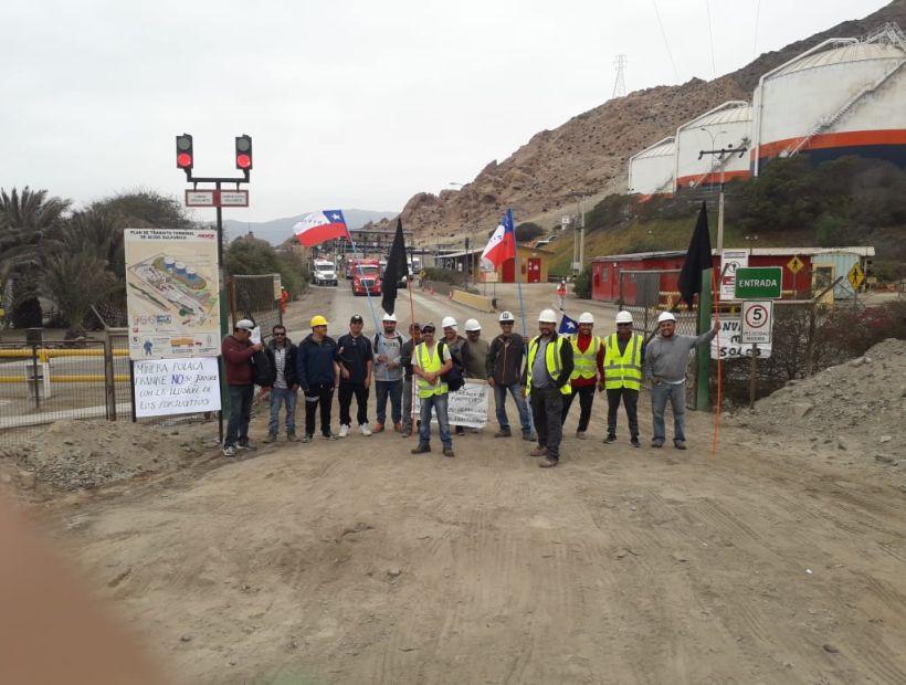 Más de 50 trabajadores realizaron paro de advertencia en minera Franke