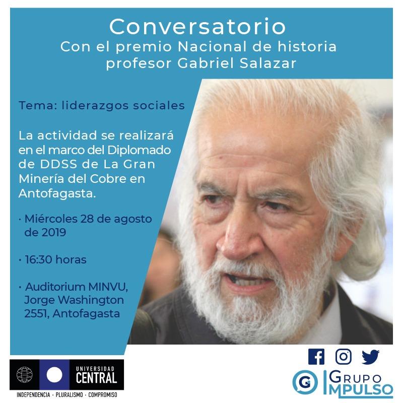 Conversatorio con el profesor Gabriel Salazar