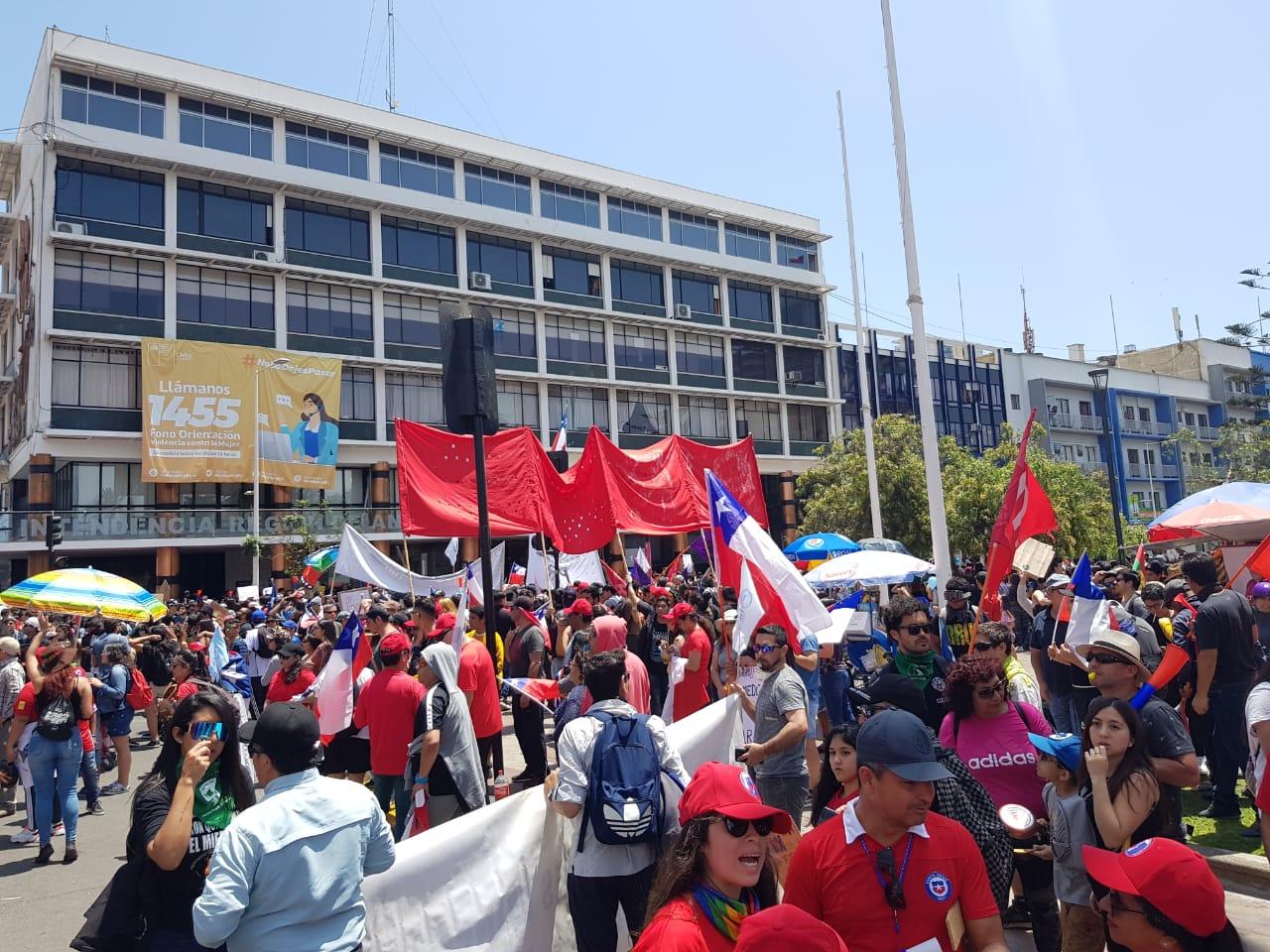 Adhesión del Bloque Minero a Marcha en Antofagasta