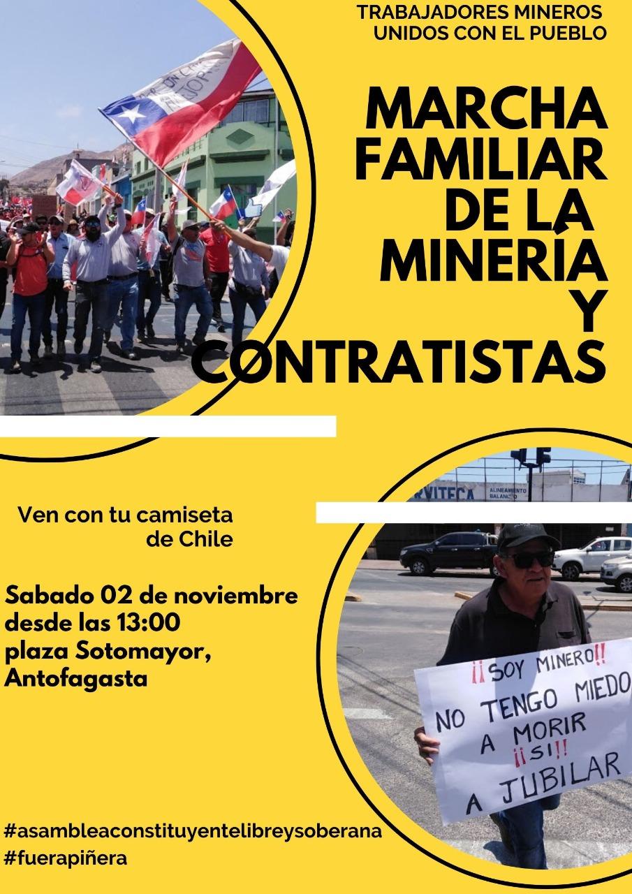 Convocatorio Marcha Familiar de la Minería y Contratistas