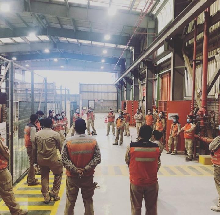 DIRIGENTES DEL SINDICATO SPENCE EN TURNOS 7X7 PARA RESGUARDAR SALUD DE LOS TRABAJADORES FRENTE AL COVID-19