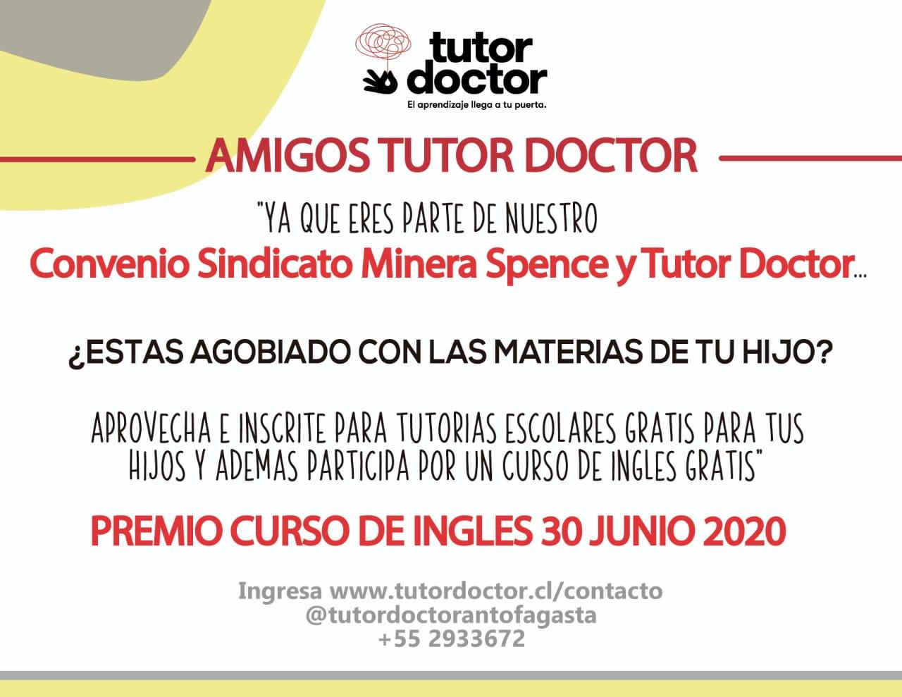 Beneficios clases de regalo por Convenio e imagen con servicios de Tutor Doctor