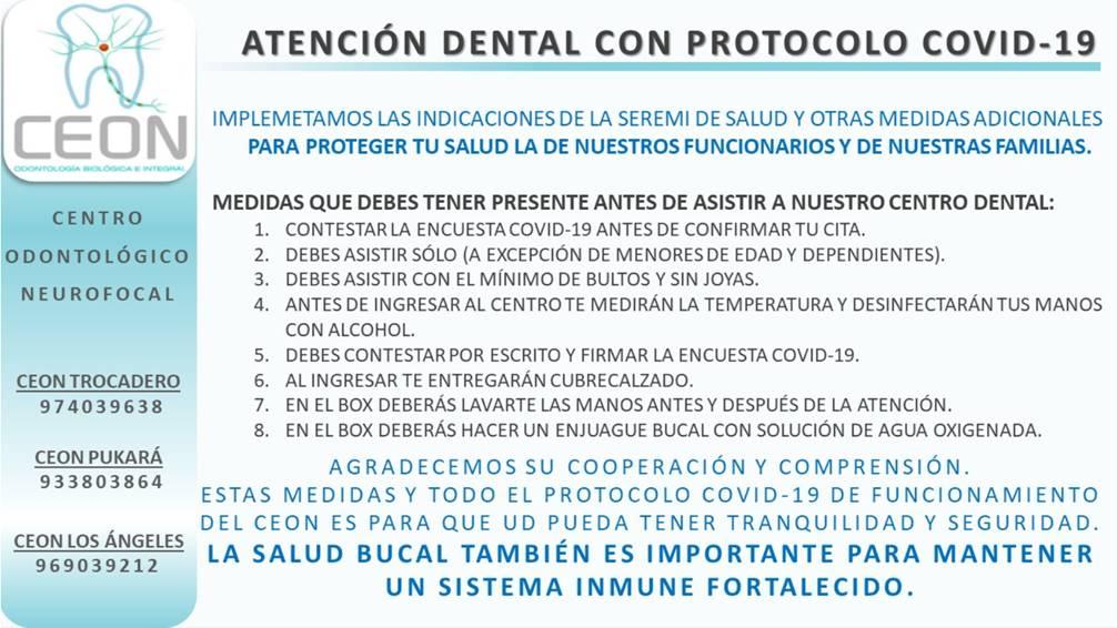 Protocolo Atención COVID-19 CEON