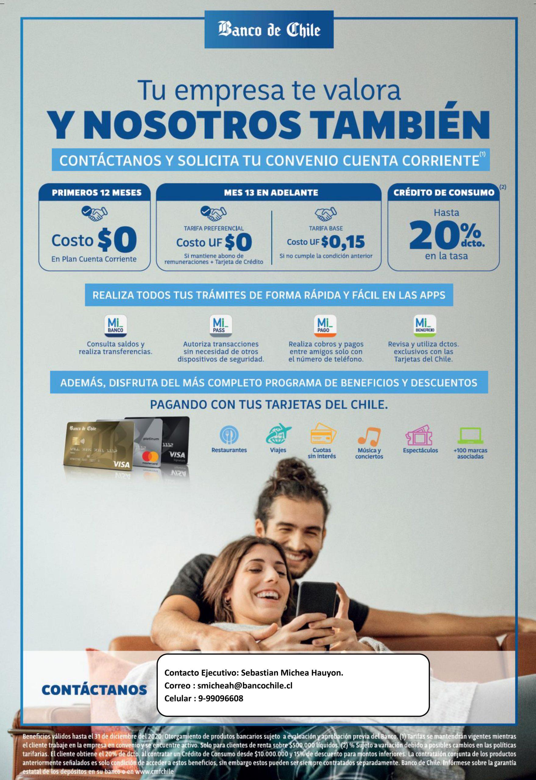 Convenio Banco Chile