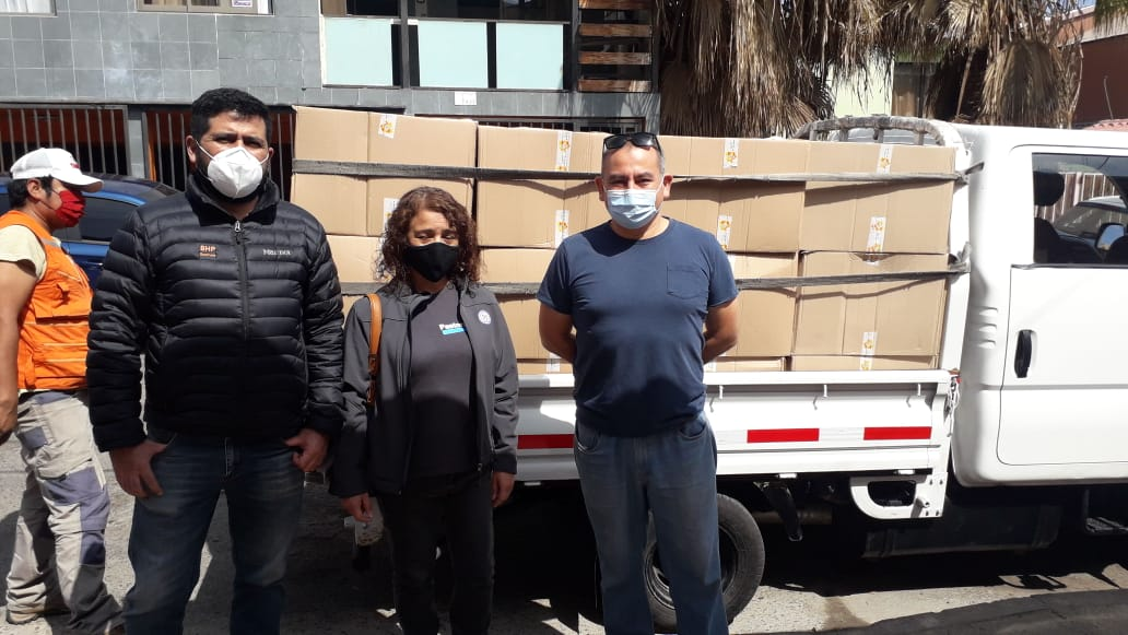 SINDICATO SPENCE ENTREGÓ IMPORTANTE APORTE A FAMILIAS DEL MACRO CAMPAMENTO LOS ARENALES DE ANTOFAGASTA