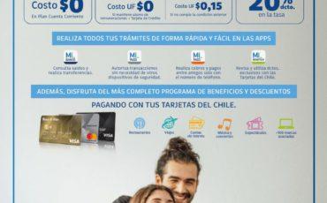 Beneficios Banco de Chile Mes de  Abril